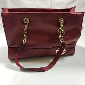 Bueno Beautiful Red leather Handbag